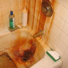 Tác hại của nước giếng khoan nhiễm phèn
